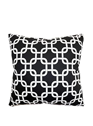 The Pillow Collection Qishn Geometric Pillow, Black