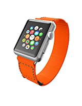 Incipio Smartwatch Replacement Band for Apple Watch 42mm - Retail Packaging - Orange/Gray Stitching