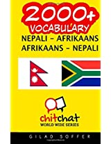 2000+ Nepali - Afrikaans, Afrikaans - Nepali Vocabulary