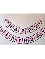 My Party Suppliers Square Bunting Mickey / Minnie Mouse Party Bunting Banner Flags Party Favors - Pink