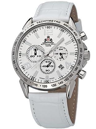 Rothenschild Armbanduhr Kalbsleder/Weiss/Silber