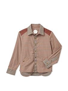kicokids Boys Peeking Pocket Shirt (Amber)
