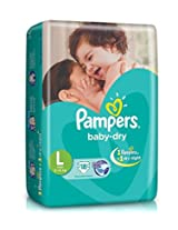 Pampers Baby Dry Large Size Diapers (18 Count)