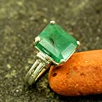 Genuine Emerald .925 Silver Ring