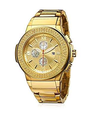 JBW Uhr mit Schweizer Quarzuhrwerk SAXON goldfarben 46  mm