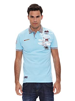 Geographical Norway Polo Manga Corta Karite (Celeste)