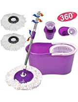 "Easy Life Easy 360 degree cleaning Mop ""No foot Pedal"" with 2 microfibres"