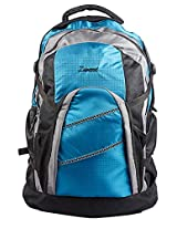Blue Polyester Backpack