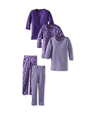 Red Wagon Baby Girl's 5-Piece Mix and Match Set (Amethyst)