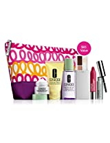 Clinique Official 2013 Winter Gift Set including New Repairwear Laser Focus Wrinkle Eye Cream New Dramatically Differnt Moisturizing Lotion+ New All About Shadow and More
