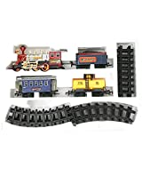 AdraxX Red Steam Engine Train Toy With Tracks [Toy]