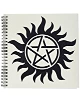 3dRose db_193333_1 Supernatural Symbol, Drawing Book, 8 by 8-Inch
