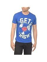 Drastic Men's Cotton Half Sleeve T-Shirt (Size - XX-Large, Royal Blue)