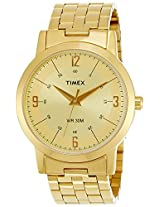 Timex Classics Analog Gold Dial Men's Watch - TI000T10300