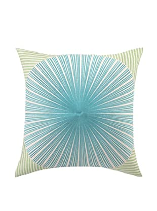 Trina Turk Mod Sunburst Embroidered Pillow (Green/Blue)