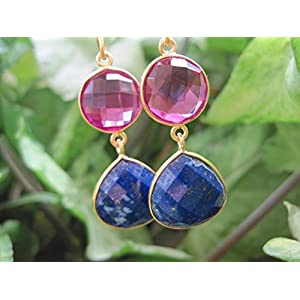 Dreamz Jewels Pink And Blue Earrings