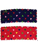 iOna Beauty Essentials Woman Tic Tic Hearts Type A Beauty Hair Pins Red n Navy Blue 2