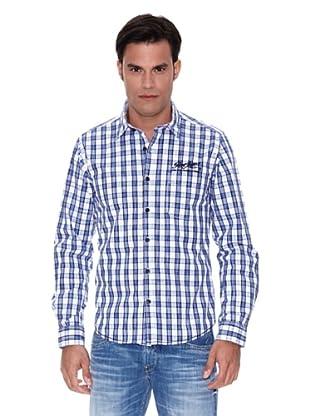 Pepe Jeans London Camisa Hackney (Azul / Blanco)
