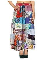 Rajrang Indian Designer Cotton Long Skirt Girl's Wear Patchwork Skirt
