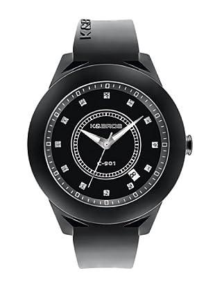 K&BROS 9165-1 / Reloj de Señora  con correa de caucho negro