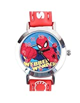 Ultimate Spiderman Kids Analog Watch - Red