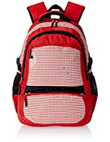 "Genius Nylon Children's Backpack (GN 1518 - 17""-RED)"