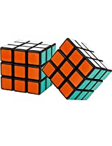 Pack of 2 Shengshou 3x3x3 Magic Cube Black Puzzle