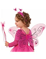Forum Child Fairy Set with Wings/Wand/Headband (3 Piece), Pink