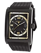 Limousine Black Silicone Black And Gold-Tone Dial Black Ip Steel Case (40012-Bb-01-Ga)