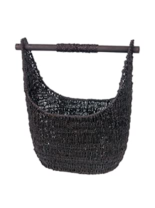 Skalny Oblong Seagrass Storage Basket, Dark Brown