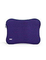 BUILT Neoprene Sleeve for 15-inch Macbook and MacBook Pro, Mini Dot Navy