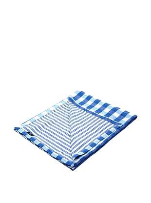 Lexington Company Colcha Cuadros (Azul / Blanco)