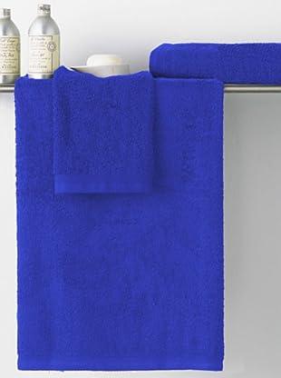 Art Experience Juego de Toallas Liso Basic (Azulón)