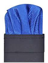 Tiekart Solid Micro Polyester Pocket Square (Ps334_Blue)
