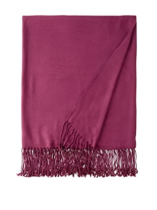 Nine Space Viscose from Bamboo Solid Throw Blanket (Plum)