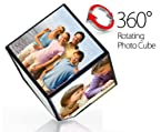 6 Sided Automatic Rotating Magic Cube Photo Frame - An Awesome Gift