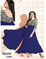 Best Indian Wear Blue Anarkali Suit By Sushmita Sen