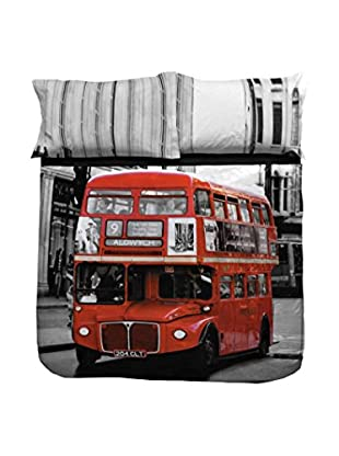 13 Casa Juego de Edredón Londonbus Multicolor