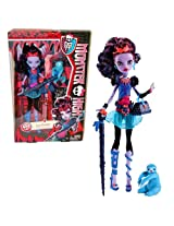 "Mattel Year 2013 Monster High Diary Series 11 Inch Doll Set Jane Boolittle ""Daughter Of Doctor Boolittle"" With Purse, Pet Needles ""Voodoo Sloth"", Hairbrush, Walking Stick, Diary And Doll Stand"