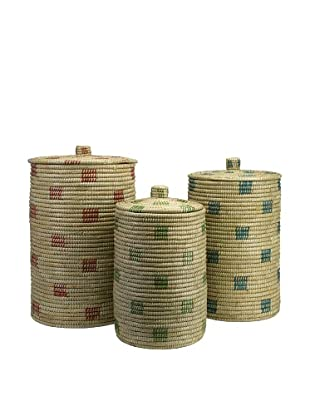 Set of 3 Afton Sea Grass Storage Baskets