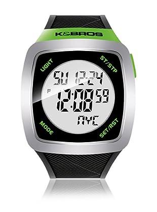 K&BROS Reloj 9567 (Negro / Verde)