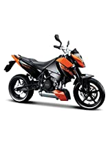 Maisto KTM 690 Duke Scale-1:18 Die Cast Toy Motorcycle (Black & Orange)