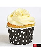 Red Forest Polycoated Flower Shape Paper Cup For Muffins And Cupcakes 20Pc Set