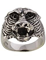 SILBERUH 925 Animal Solid Sterling Silver Lion Ring For Men