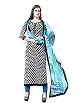 Texclusive Women's Crepe Semi Stitched Suit (Multi-Color)