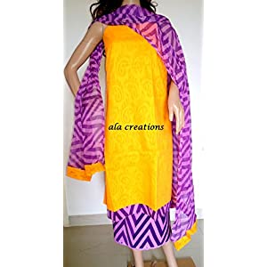 Ala Creations Cotton Dress Material