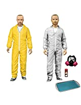 Mezco Toyz Breaking Bad: Jesse Pinkman in Yellow & White Hazmat Suits Action Figure