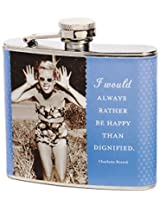 Shannon Martin Girl Designer Flask, Happy Than Dignified, Blue
