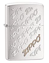 Zippo Brushed Chrome Lighter, 28642