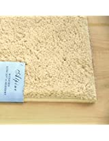 """Beige Alpine Bathroom Mat : Absorbent and Ultra Plush, Non Skid Backing (21"""" x 34"""")"""